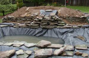 Декор водоема на участке