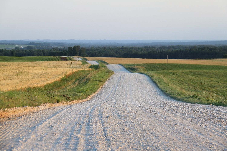 готовая гравийная дорога