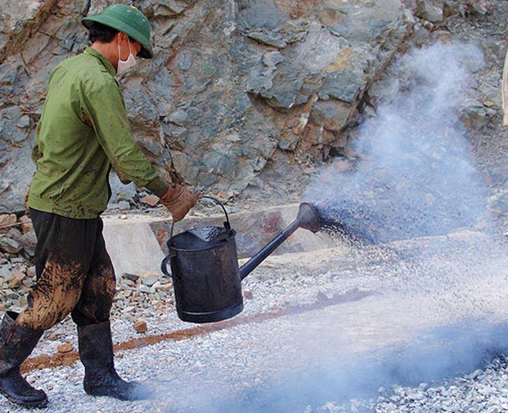 битум-щебневая гидроизоляция