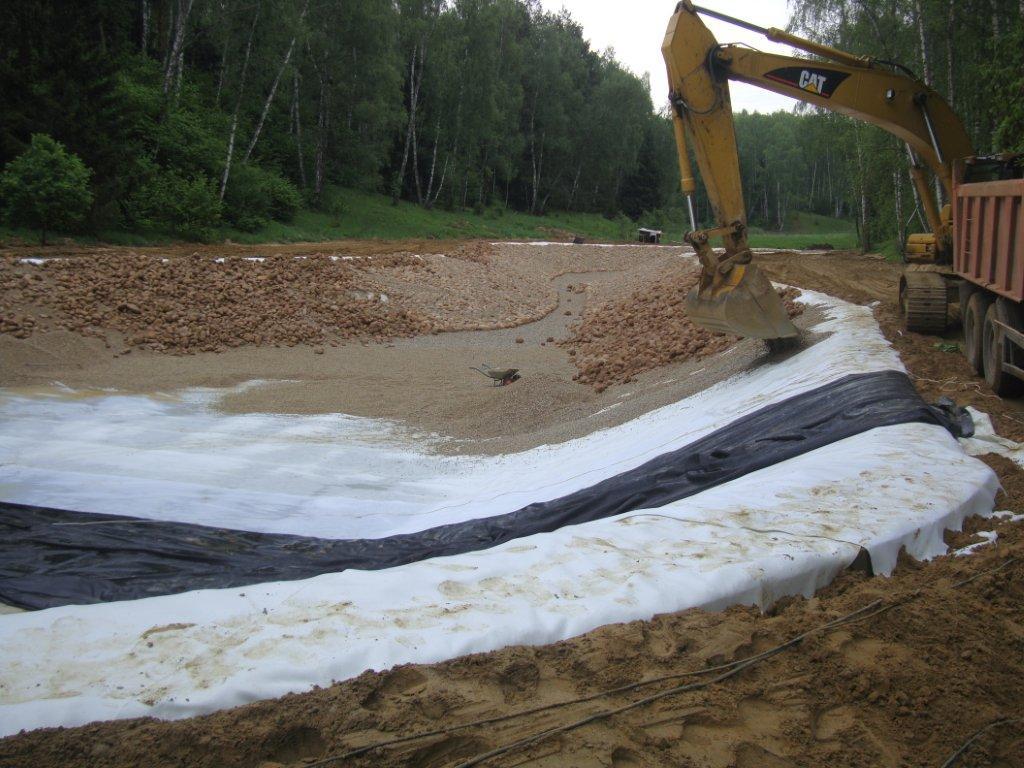 геотекстиль в загородном строительстве