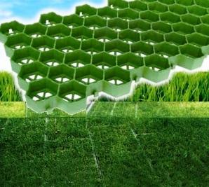 Газонная решетка поможет создать зеленое место для парковки