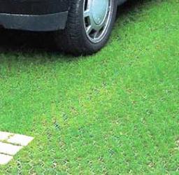 Обустройство парковки с помощью газонной решетки