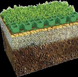 Устройство эксплуатируемого травяного покрытия