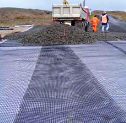 Применение геосетки стекловолоконной в дорожном строительстве