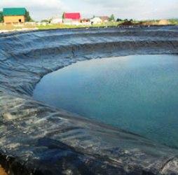 Строительство искусственного водоема с применением геомембраны