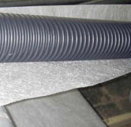 Обертка труб геотекстилем