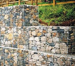 Подпорная стена из габионов