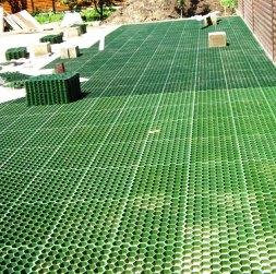 Монтаж газонной пластиковой решетки