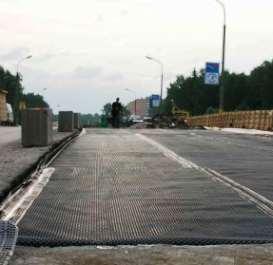 Использование геомембраны в реконструкции дороги