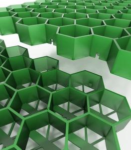 Секции пластиковой газонной решетки