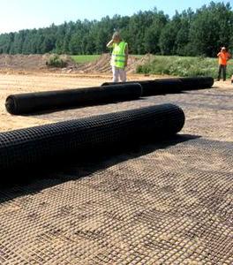 Строительство дороги с применением геосетки