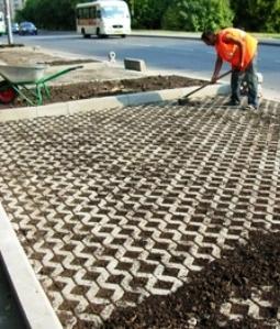 Монтаж бетонной решетки