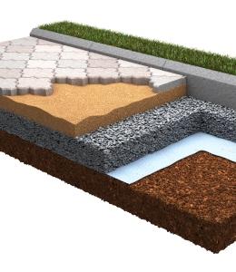 Применение геотекстиля в обустройстве плиточно-тротуарных покрытий